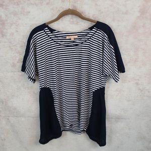 ⭐️Gibson Latimer Navy White Striped Shirt Small